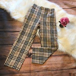Burberry Striped Straight-Leg Pants